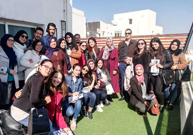 Visite des étudiants de l'ISG Bizerte
