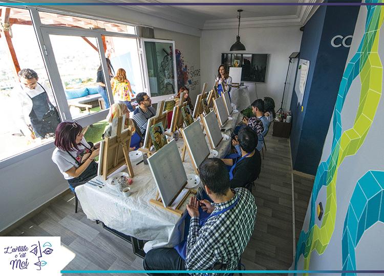 Un atelier de peinture pas comme les autres