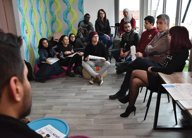 Visite des étudiants de Junior Entreprise Sup'com