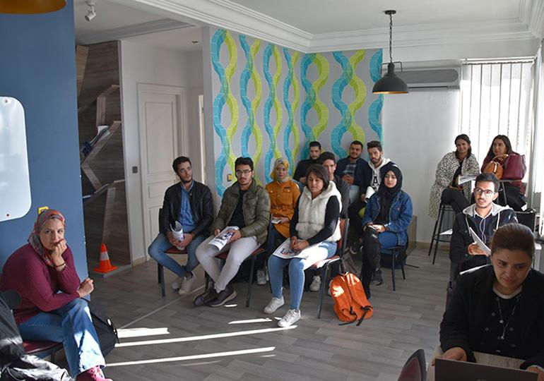 Les étudiants de l'ISAMM en visite à MEDIANET