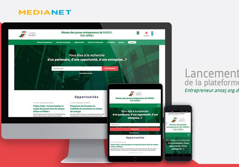 Projet d'accompagnement de l'ANSEJ dans la digitalisation du réseau des jeunes entrepreneurs en Algérie