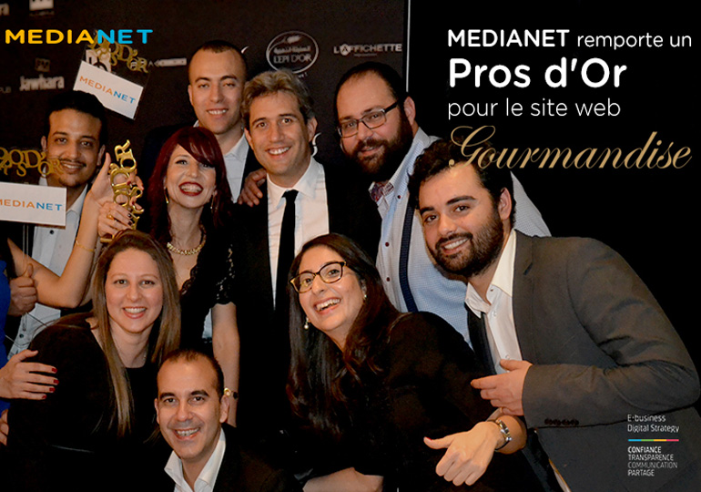 MEDIANET récompensée au Pros d'Or 2017