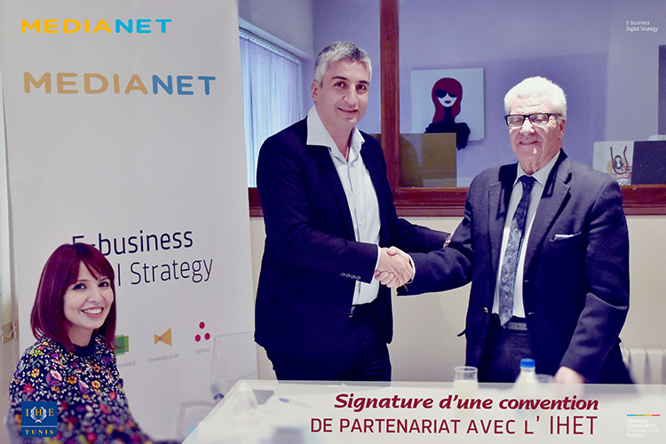 MEDIANET signe une convention de partenariat avec l'IHET