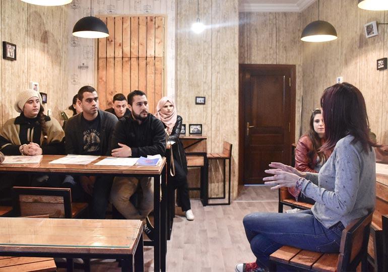 Visite des étudiants de l'ISET'COM