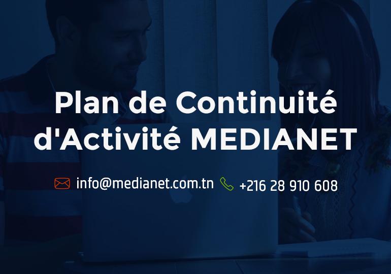 Plan de Continuité d'Activité MEDIANET