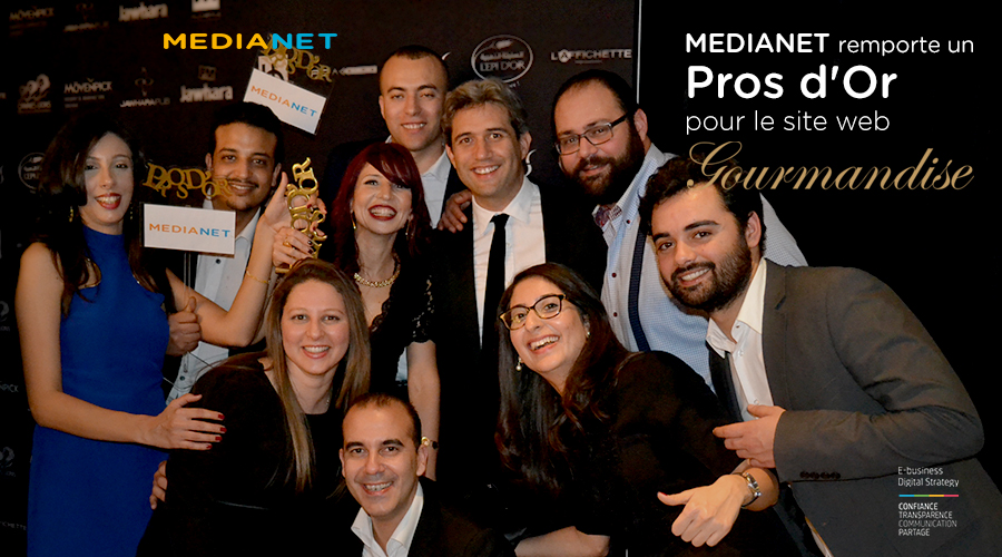 MEDIANET récompensée au Pros d'Or 2017