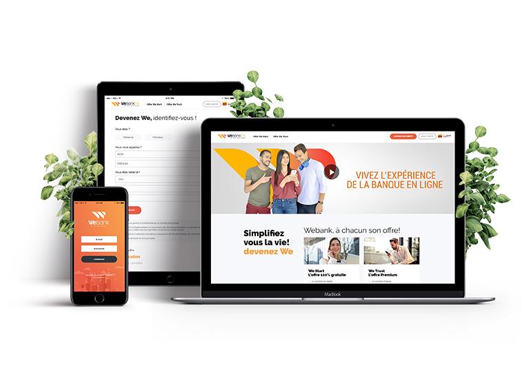 Transformation digitale des banques... Webank by MEDIANET